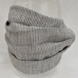 リトアニア産リネンマスク グレイストライプ