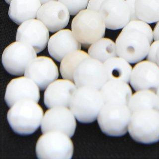 ホワイトオニキスファセッテドラウンド約4-4-4mm