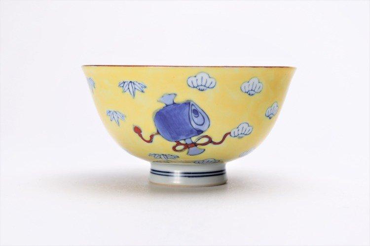 徳七窯 染錦黄濃宝袋 茶付(大) 画像サブ3