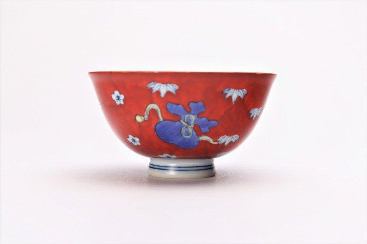 徳七窯 染錦赤濃宝袋 茶付(小) 画像サブ2