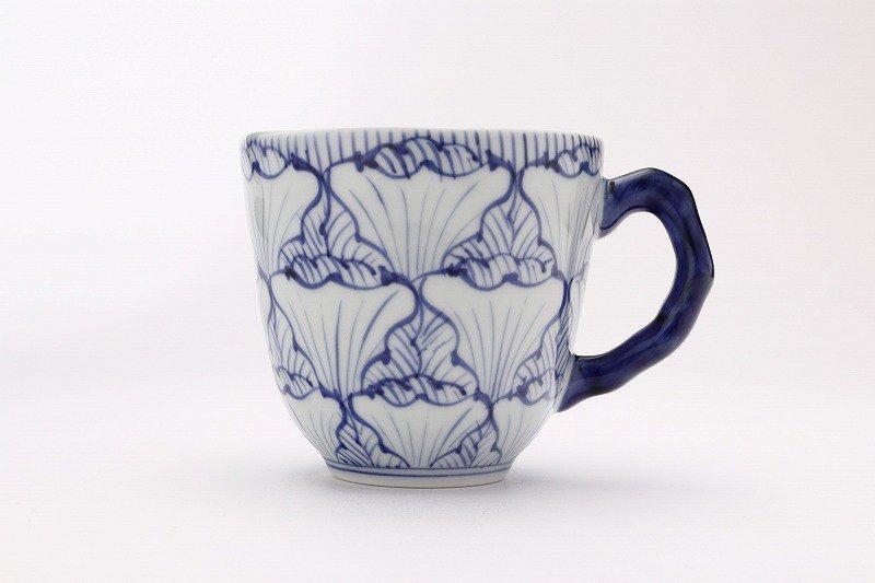 そうた窯 染付花弁紋 マグカップ(青) 画像サブ1