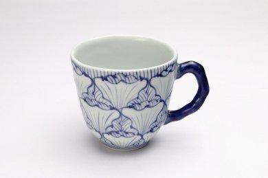 そうた窯 染付花弁紋 マグカップ(青)