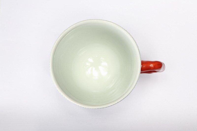 そうた窯 染付花弁紋 マグカップ(赤) 画像サブ2
