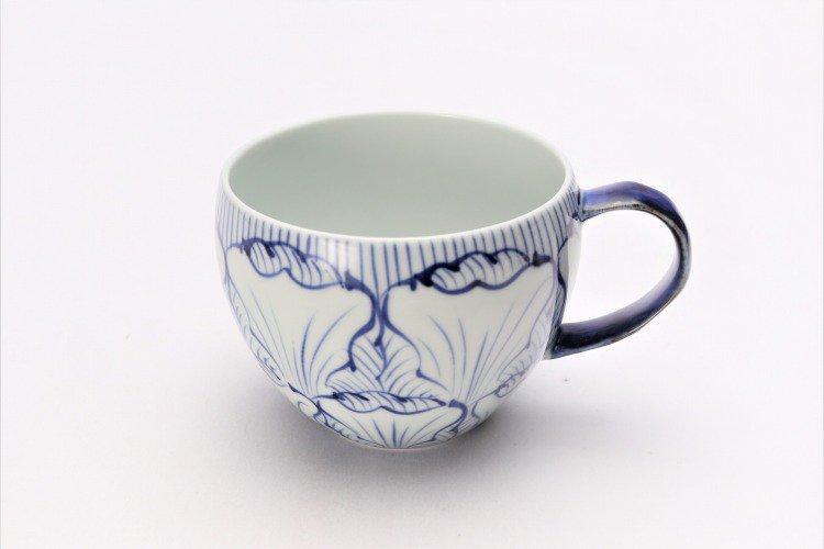 そうた窯 染付花弁紋 丸スープカップ(青) 画像メイン