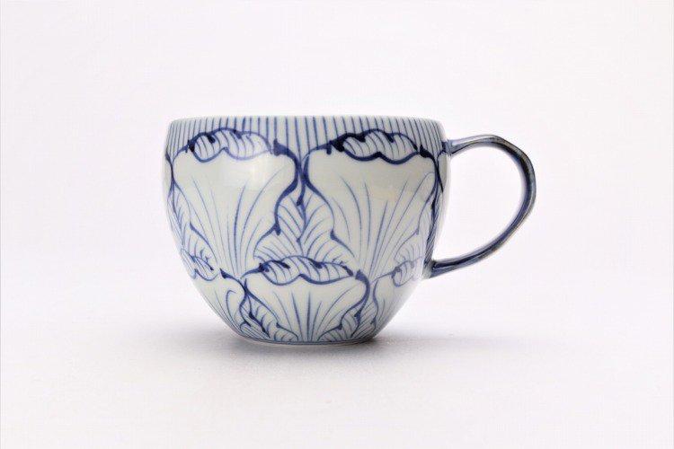 そうた窯 染付花弁紋 丸スープカップ(青) 画像サブ1