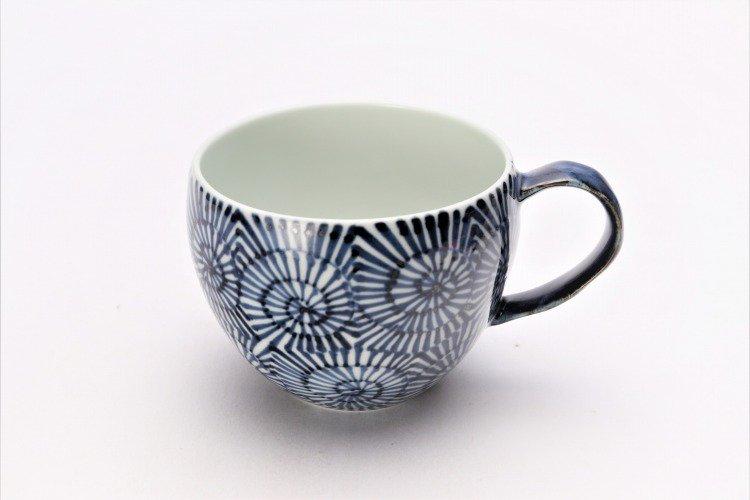 そうた窯 染付蛸唐草 丸スープカップ(青) 画像メイン