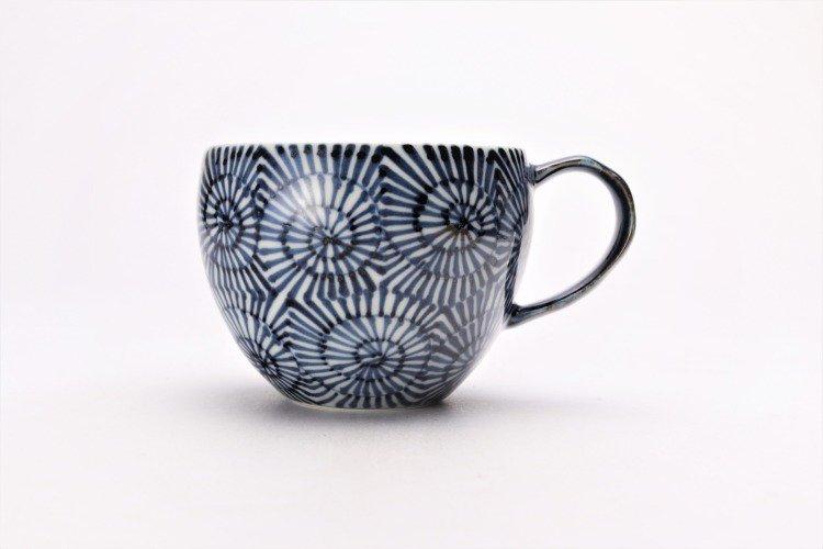 そうた窯 染付蛸唐草 丸スープカップ(青) 画像サブ1