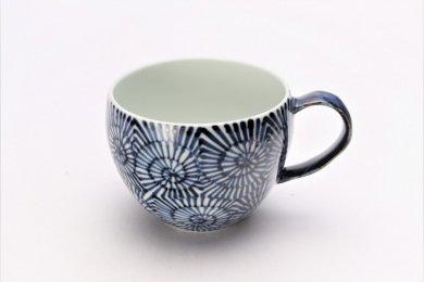 そうた窯 染付蛸唐草 丸スープカップ(青)