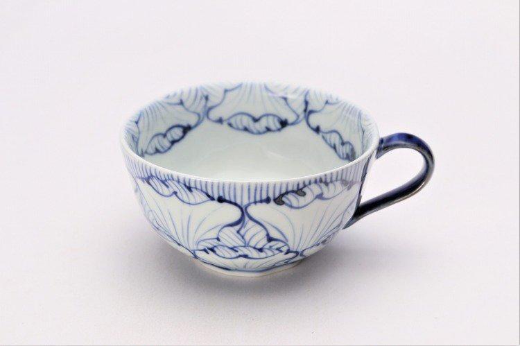そうた窯 染付花弁紋 スープカップ(青) 画像メイン