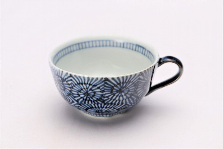 そうた窯 染付蛸唐草 スープカップ(青) 画像メイン