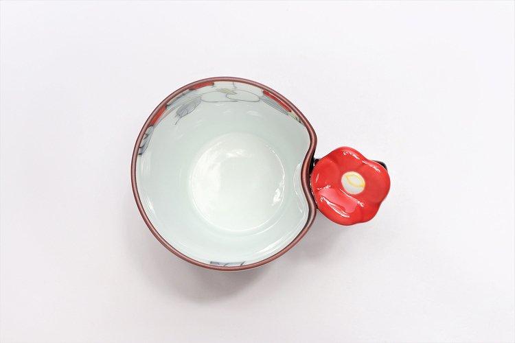 仙右ェ門窯 花絵蒔 花マグカップ(小) 赤 画像サブ2