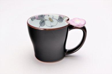 仙右ェ門窯 花絵蒔 花マグカップ(小) 紫