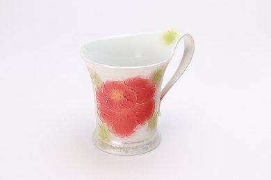 文山窯 赤牡丹パールラスター 流転マグカップ