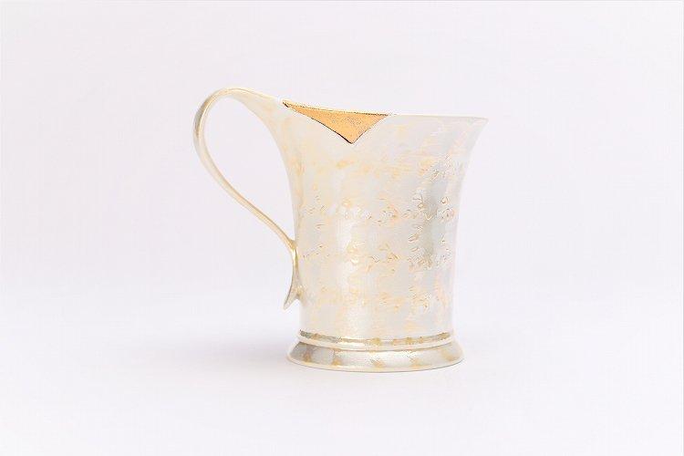 楽々シリーズ ラスターゴールド 流転マグカップ (化粧箱入り) 画像サブ2