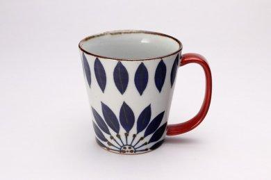 翔芳窯 ブルーフラワー Bigマグカップ