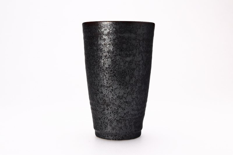 陶悦窯 黒晶掛分内銀塗り 特大フリーカップ 画像サブ1