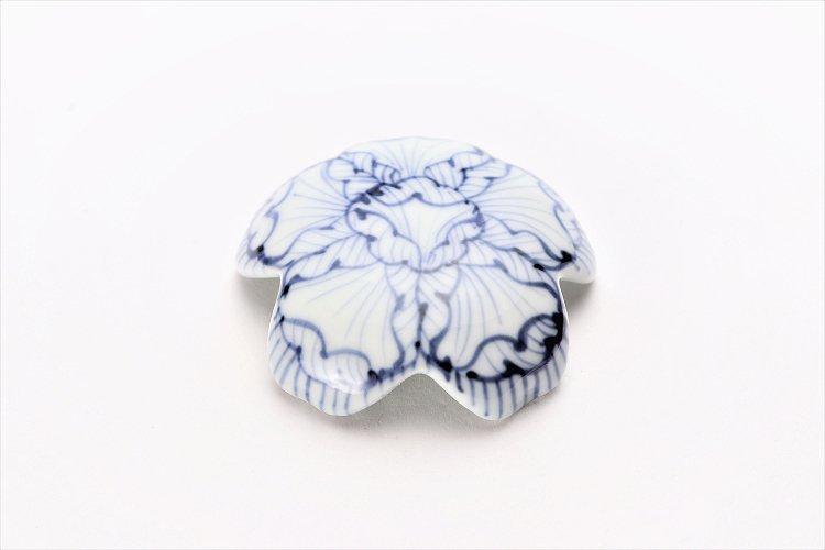 楽々シリーズ 染付花弁紋 桜型排水口カバー 画像メイン