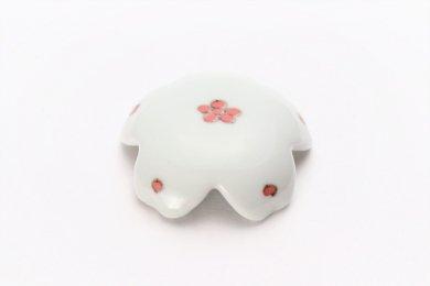 染付赤小花紋 桜型排水口カバー