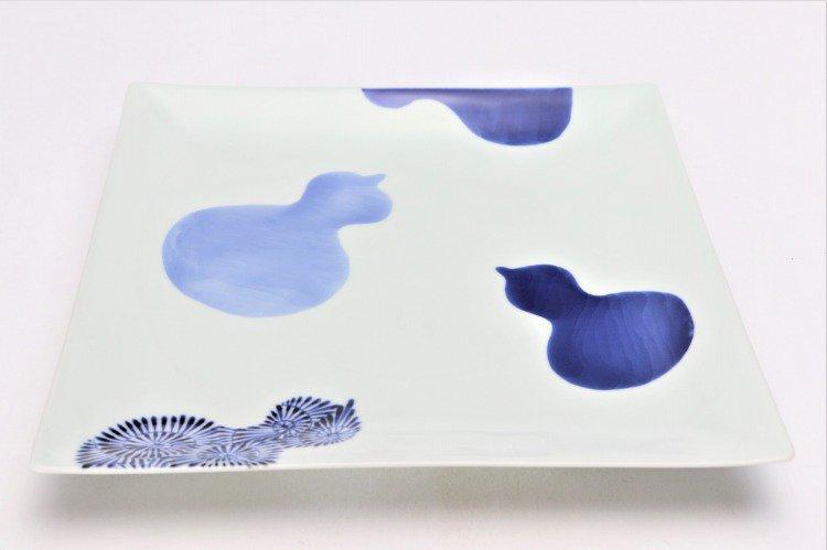 染付瓢絵 7.5寸正角皿 画像メイン