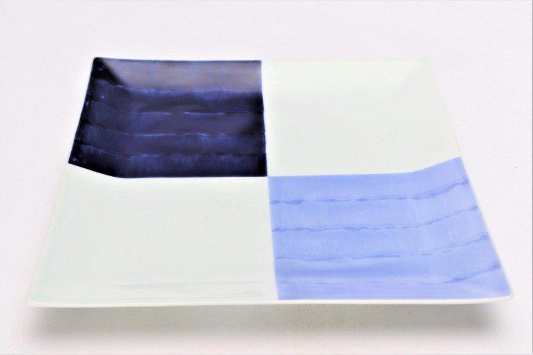 染付和市松 7.5寸正角皿 画像メイン