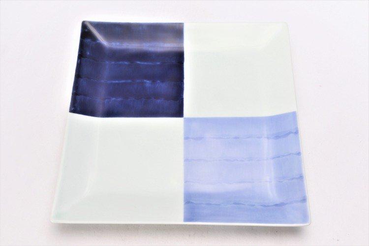 染付和市松 7.5寸正角皿 画像サブ2