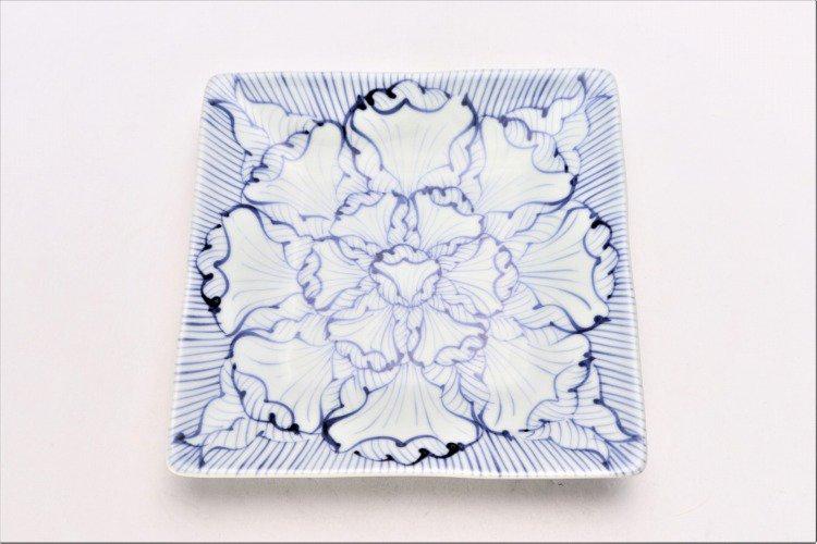 染付花弁紋 正角皿 画像サブ2