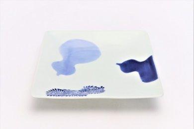 そうた窯 染付瓢絵 正角皿