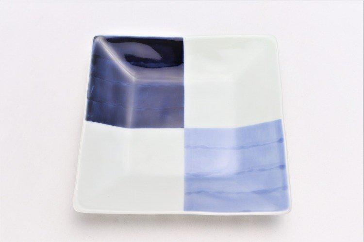 そうた窯 染付和市松 正角皿 画像サブ2