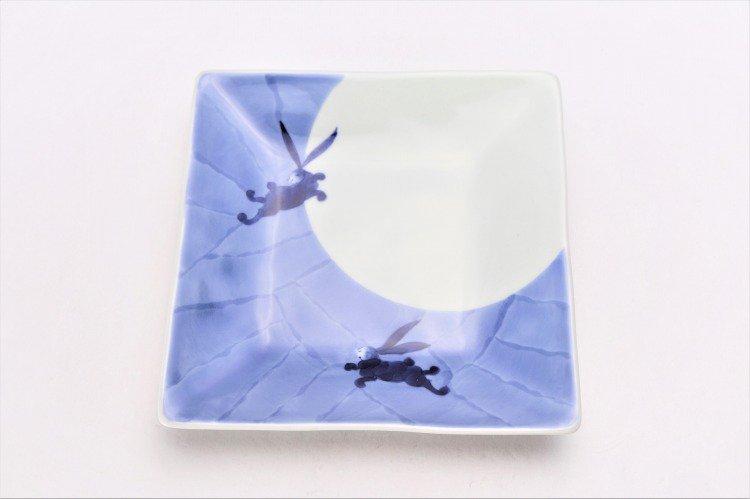 そうた窯 染付和兎 正角皿 画像サブ2