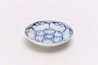 そうた窯 染付花弁紋 3.5寸多用皿