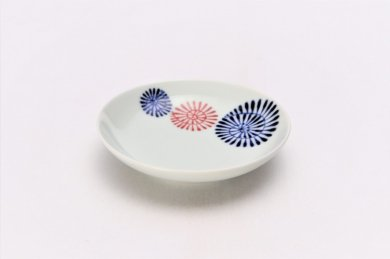 染付色蛸つなぎ 3.5寸多用皿