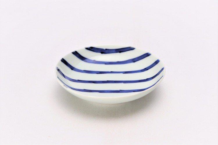 そうた窯 染付濃十草 3.5寸多用皿 画像メイン