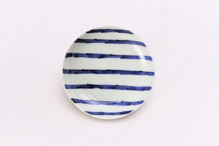 そうた窯 染付濃十草 3.5寸多用皿 画像サブ2