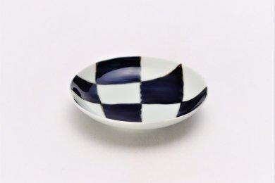 そうた窯 染付幾何濃紋 3.5寸多用皿
