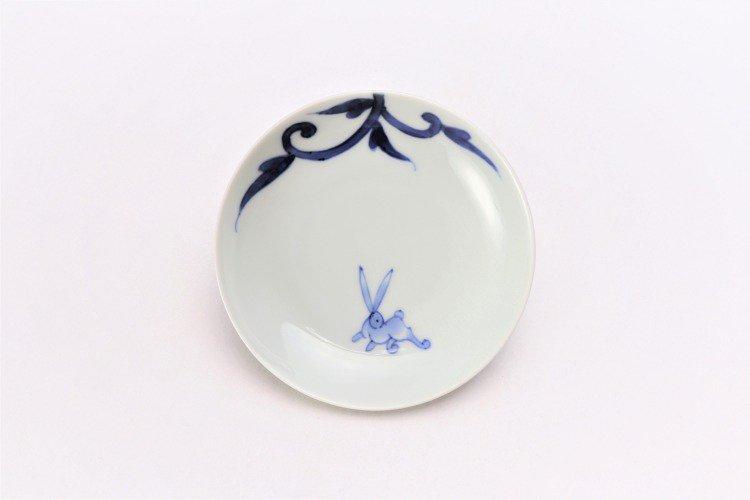 そうた窯 染付兎唐草 3.5寸多用皿 画像サブ2