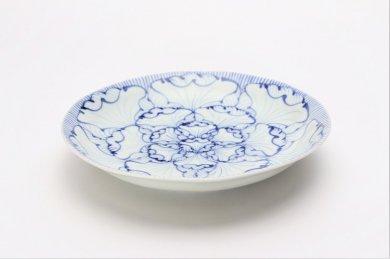 そうた窯 染付花弁紋 6.5寸深皿