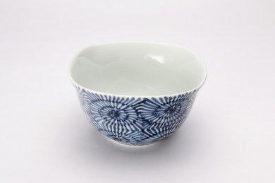 染付蛸唐草 角小鉢