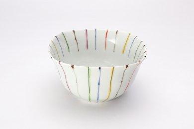 染錦線十草 角小鉢