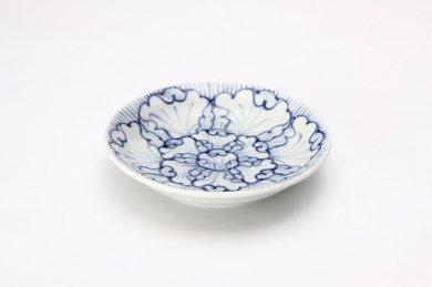 そうた窯 染付花弁紋 4寸深皿