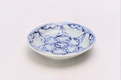 そうた窯 染付花弁紋 3.5寸深皿