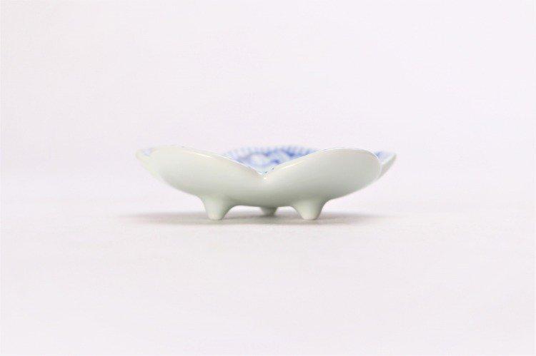 染付花弁紋 花型箸置 画像サブ1