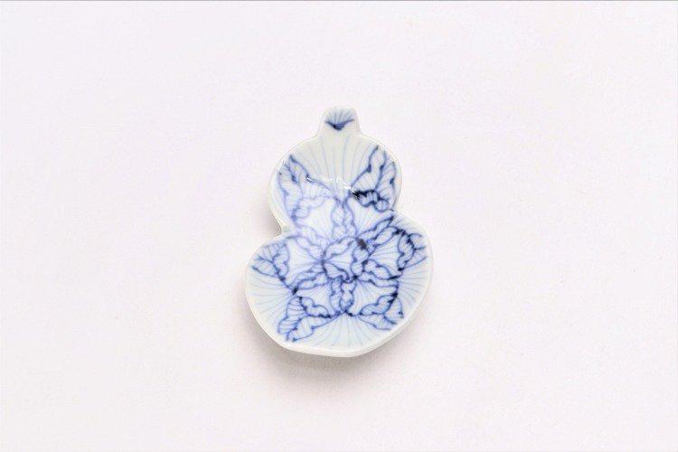 そうた窯 染付花弁紋 瓢型箸置き 画像サブ2