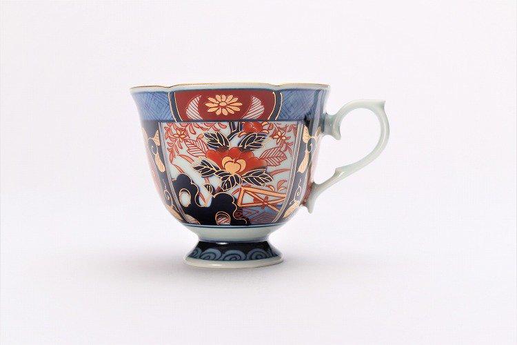 瀬兵窯 古伊万里金彩牡丹(赤) コーヒーC/S 画像サブ3