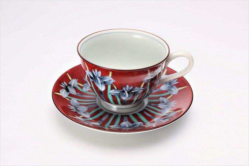 三宅製陶所 赤ダミアヤメ コーヒーC/S 画像メイン