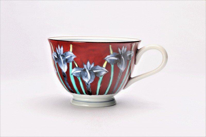 三宅製陶所 赤ダミアヤメ コーヒーC/S 画像サブ2