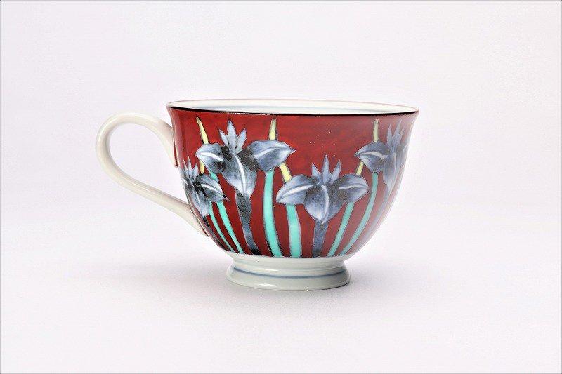 三宅製陶所 赤ダミアヤメ コーヒーC/S 画像サブ3
