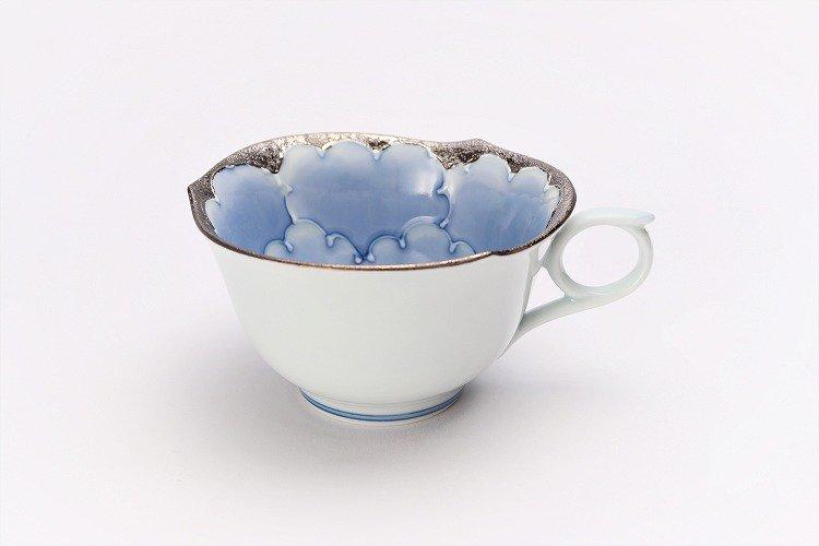 文山窯 プラチナ牡丹 輪花コーヒーC/S 画像サブ2