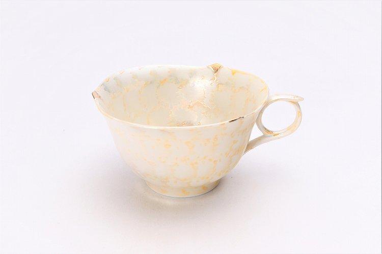文山窯 ラスターゴールド 輪花コーヒーC/S (化粧箱入り) 画像サブ1