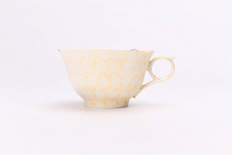 文山窯 ラスターゴールド 輪花コーヒーC/S (化粧箱入り) 画像サブ2