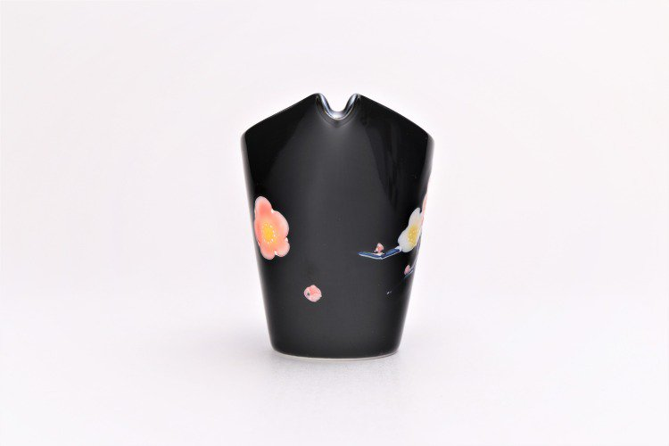 黒釉花 片手酒器セット 画像サブ5